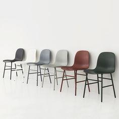 Form Chair Staal - Normann Copenhagen https://www.livingdesign.be/nl/merken/normann-copenhagen/stoelen