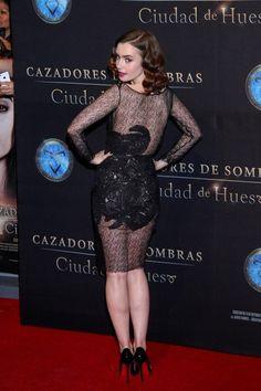 """Pactar con el Diablo por...: Lily Collins en la premiere y photocall de """"The Mortal Instruments: City of Bones"""" en México"""