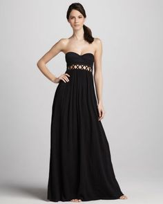 Frida Strapless Maxi Dress by Mara Hoffman at Neiman Marcus.