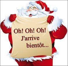 o=j'arrive bientot c'est noel - mery christmas Black Christmas, Christmas Snowman, Christmas Time, Merry Christmas, French Quotes, Blog Images, Vintage Postcards, Anime, Geek Stuff