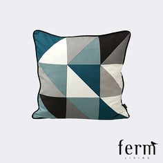 Ferm Living Remix Cushion Blue available at LoftModern.com