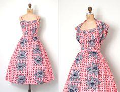 o n h o l d.....vintage 1950s hawaiian dress  by SwaneeGRACE