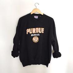 Vintage Purdue Crewneck Pullover Sweatshirt by WildKardVintage
