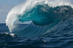 Awesome barrel. Photo by Russell Ord #surf #photography