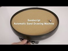 Sandscript - Automatic Sand Drawing Machine from ThinkGeek - YouTube