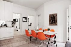 A monochrome apartment with a touch of orange via My Scandinavian Home