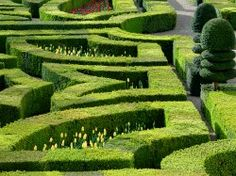 The #gardens of the castle of #Villandry.~Beautifully created...