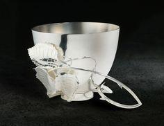 Rose Leaf Ice Cream bowl, sterling silver. Copyright Robyn Nichols