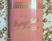 "Vintage AVON ""Unforgettable"" Perfumed Talc"