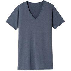 Uniqlo Men's Heattech V-Neck T-Shirt (short-sleeve) Mens Holiday Shirts, Uniqlo Men, Mens Sale, V Neck T Shirt, Lounge Wear, Men Casual, Tops, Sleeve, Women