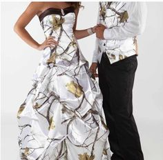 I really love this camo dress for a wedding dress