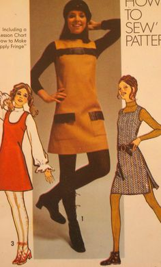 SALE  Vintage 70's Women's Sewing Pattern Mod by Sutlerssundries, $5.99     Had to have a jumper.
