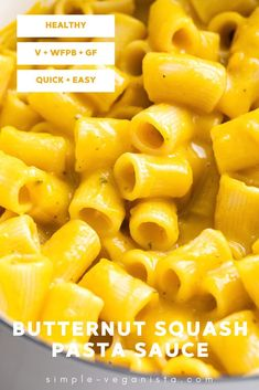 Creamy vegan Butternut Squash Sauce recipe with sage is a delicious accompaniment to your favorite pasta! It's healthy, quick and easy to make, and need I say absolutely delicious! #butternutsquash #pasta #healthyrecipes #veganrecipes #plantbased #wfpb Low Fat Vegan Recipes, Sage Recipes, Vegan Meals, Whole Food Recipes, Eating Vegan, Clean Eating Diet, Quick Easy Vegan, Quick Easy Meals, Butternut Squash Pasta Sauce