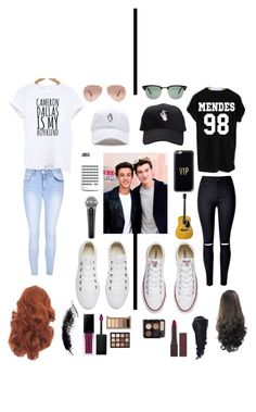 """""""Cameron Dallas vs. Shawn Mendes"""" by emolialarson234 ❤ liked on Polyvore featuring Converse, Ray-Ban, Casetify, Burt's Bees, MAC Cosmetics, Glamorous, Smashbox and Urban Decay"""