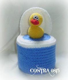 Klopapierhüte & -verstecker - Klopapierhut WC-Ente - ein Designerstück von contra0815 bei DaWanda