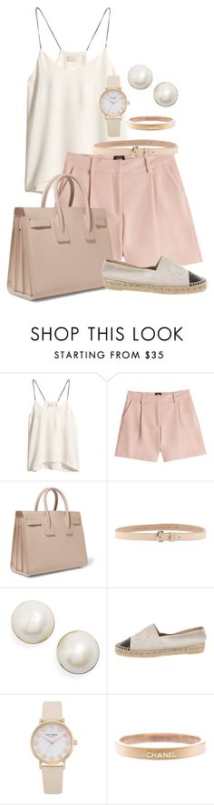 """Nude and Pink"" by neweditorial ❤ liked on Polyvore featuring H&M, McQ by Alexander McQueen, Yves Saint Laurent, Dsquared2, Kate Spade, Chanel and brunch"