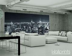 Bij een industriële loft hoort een bijpassend fotobehang. In zulke ruimtes worden ruw beton en metaal gebruikt om een eigen karakter te geven. Versterk dit effect met een afbeelding van een stadsgezicht.