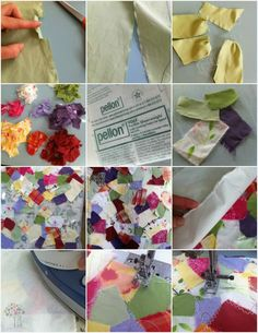 Turn Scraps into Fabric - Easy Technique  #Sewing #Recycle