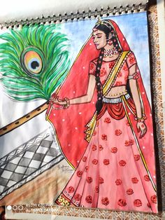 Radha Krishna Pictures, Radha Krishna Photo, Krishna Photos, Krishna Art, Hard Drawings, Realistic Drawings, Art Drawings Sketches, Cute Easy Doodles, Krishna Drawing