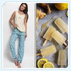 Wear your favorite comfy homewear by Vamp! http://www.vampfashion.com/index.php/collections/P954-ladies-pyjama-100-cotton and enjoy that tasty recipe! http://portandfin.com/throat-soothing-chamomile-ginger-popsicles-with-lemon-and-honey/ #vampfashion #recipe