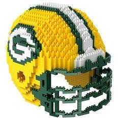 Green Bay Packers NFL 3D BRXLZ Puzzle Helmet Set (SHIPS IN NOVEMBER) $29.99