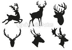 Deers silhouette — Stock Vector © Dmitriy Shironosov #11697612