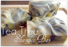 Invigorating Shampoo Bars - Tea tree essential oil is an antiseptic known to help treat scalp conditions (dandruff & head lice)! stimulates new hair growth by removing dead skin cells from hair follicles. It smells minty & earthy, leaving you energized. Diy Shampoo, Tea Tree Shampoo, Homemade Shampoo, Shampoo Bar, Homemade Tea, Homemade Facials, Tea Tree Oil Soap, Homemade Detergent, Diy Beauté