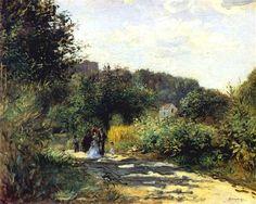 A Road in Louveciennes by Pierre-Auguste Renoir, c1870