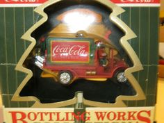 CHRISTMAS - COCA COLA BOTTLING WORKS COLLECTION - 1997 ORNAMENTS