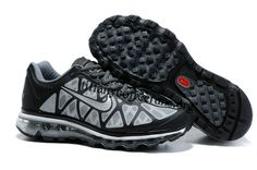 Mens Nike Air Max 2011 Black Charcoal White Sneakers