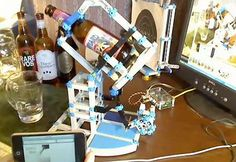 Merges Robots And iPhones And Beers... Oh My #drinking #apps trendhunter.com