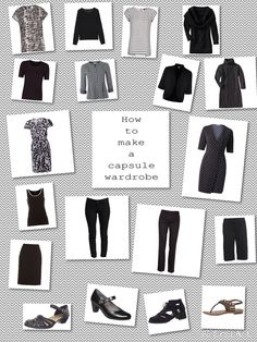 66 Item Challenge: Black, and black and white patterns, can do the 'heavy lifting' in a capsule wardrobe. Can be mixed with any other colour, slow to show dirt and wear, helps with the 'slimming silhouette' many of us aim for :-) and always a great choice in the city.