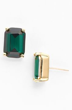Emerald Stone Stud Earrings