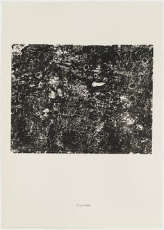 Jean Dubuffet. The Rock (La Roche) from the portfolio Continuation of Inventory (Suite d'inventaire) from Phenomena (Les Phénomènes). 1958