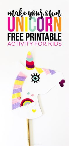 Make Your Own Unicorn FREE Printable Activity is part of Unicorn crafts For Kids - Make Your Own Unicorn FREE Printable is the perfect activity for kids that are home all day for Spring or Summer Break! Let them be creative! Printable Activities For Kids, Printable Crafts, Free Printable, Kid Party Activities, Camping Activities, Party Games, Unicorn Kids, Unicorn Crafts, Horse Crafts