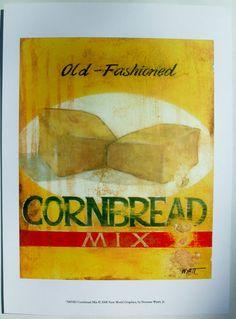 $15.50  Bread Baking ART Print BY Norman Wyatt JR Cornbread MIX   eBay