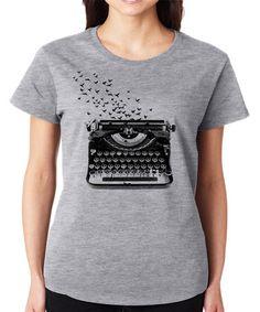 Look at this #zulilyfind! Gray Typewriter Crewneck Tee - Plus #zulilyfinds