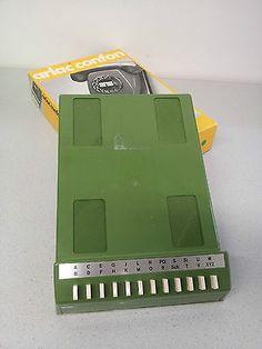 70er Arlac Super-Confon Telefonregister ⭐ GRÜN ⭐  Telefon Vintage ⭐Register OVP