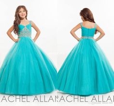 Cheap Long Girls Pageant Dresses for Teens Ball Gown Beaded Spaghetti Sky Blue Tulle 2016 Little Baby Party Birthday Gowns Flower Girl Dress Online with $70.5/Piece on Sweet-life's Store | DHgate.com