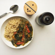 Spicy Butternut Squash, Aubergine, Spinach and Capsicum Coconut Milk Curry : Superfood Siobhan