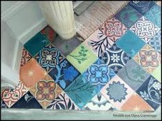 du style andalou chez leroy merlin carrelage mural en fa ence sevillanos alcudia bleu 15x20cm. Black Bedroom Furniture Sets. Home Design Ideas