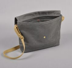 Archival Flap Musette - heavyweight wax cotton twill