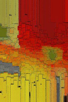 "Saatchi Online Artist Ben and Raisa Gertsberg; Painting, ""Summer In The Big City - Fantasy Cityscape"" #art"
