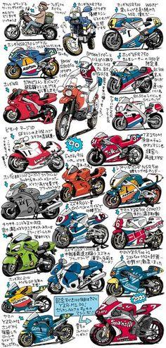 オートバイポスター用カラー絵2