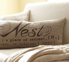 Pottery Barn Nest Pillow knock off tutorial