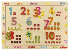 Number #Puzzle Board #Wooden #Toy £10.95