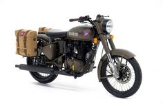 Royal Enfield has launched a limited edition model inspired by a World War II model Flying Flea. The new limited edition model, called the Royal Enfield Classic 500 Pegasus. Enfield Bike, Enfield Motorcycle, Motorcycle Style, Motorcycle News, Scrambler Motorcycle, New Motorcycles, Vintage Motorcycles, Royal Enfield Accessories, Royal Enfield Modified