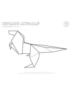 Origami Animal Coloring Pages - Mr Printables
