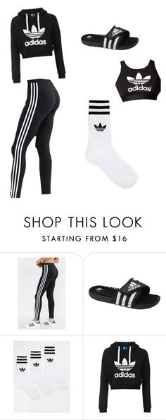 """Untitled #75"" by maddixneal on Polyvore featuring adidas and Topshop"
