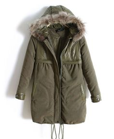 Oversized Army Parka with Faux Fur Trimmed Hood. This is what I used to keep b3df81878d